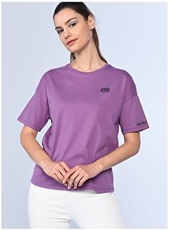 Ecko Unltd Ecko Unlimited Kadın Bisiklet Yaka Nakışlı Tshirt